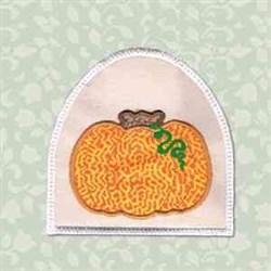 Pumpkin Towel Topper embroidery design