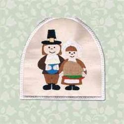 Pilgrim Towel Topper embroidery design