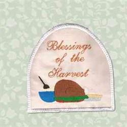 Harvest Towel Topper embroidery design