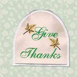 Give Thanks Towel Topper embroidery design