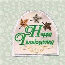 Thanksgiving Towel Topper embroidery design