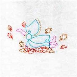 Fall Sunbonnet Girl embroidery design