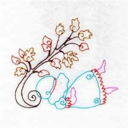 Fall Girl embroidery design