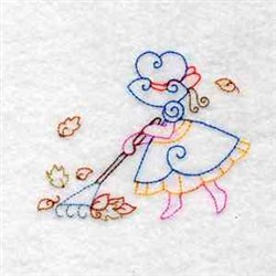 Rake Leaves embroidery design