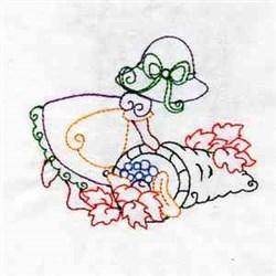 Cornucopia Girl embroidery design