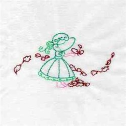 Autumn Girl embroidery design