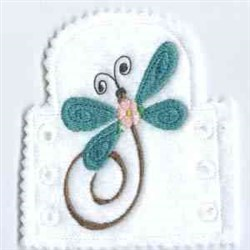 Dragonfly Tea Light embroidery design