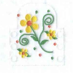 Flowered Tea Light embroidery design