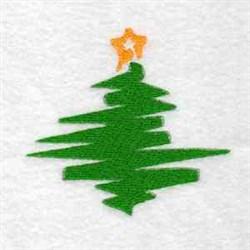 Festive Tree embroidery design