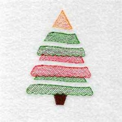 A  Christmas Tree embroidery design