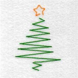 Zig Zag Tree embroidery design
