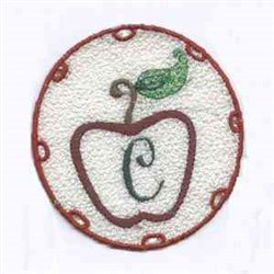 FSL Apple Letter C embroidery design