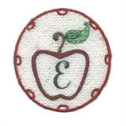 FSL Apple Letter E embroidery design