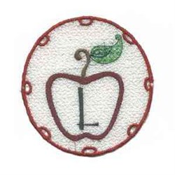 FSL Apple Letter L embroidery design