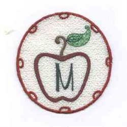 FSL Apple Letter M embroidery design