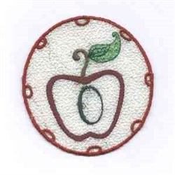 FSL Apple Letter O embroidery design