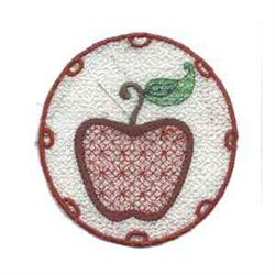 FSL Apple Circle embroidery design