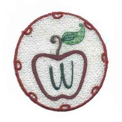 FSL Apple Letter W embroidery design