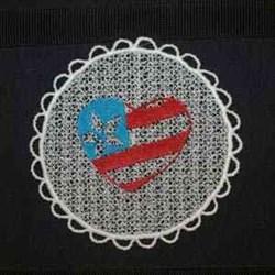 FSL American Sun Catcher embroidery design