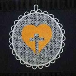 FSL Cross Sun Catcher embroidery design