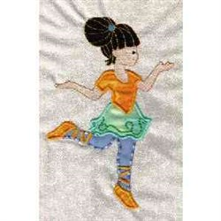 Applique Dancer embroidery design