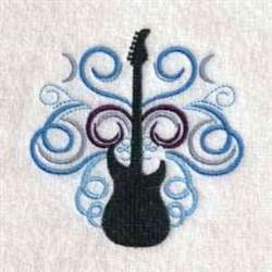 Swirl Guitars embroidery design