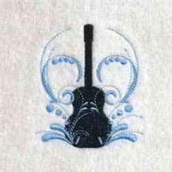 Swirly Guitar embroidery design