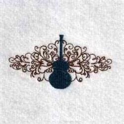 Guitar Decoration embroidery design