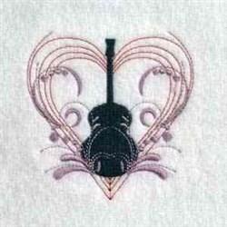 Love Guitar embroidery design