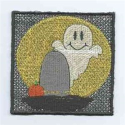 Halloween Candle Ghost embroidery design