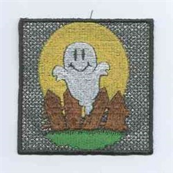 Ghost Halloween Candle embroidery design