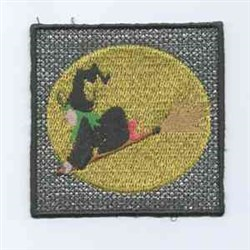 Witch Halloween Candle embroidery design