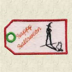 Halloween Tag embroidery design