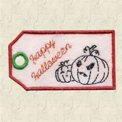Jack O Lantern Tag embroidery design