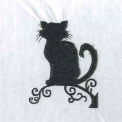 Cat Silhouettes embroidery design