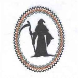 Reaper Silhouette embroidery design