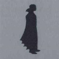 Vampire Silhouette embroidery design