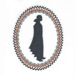 Dracula Silhouette embroidery design