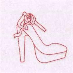 Redwork Shoe embroidery design