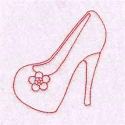 Redwork Heel embroidery design