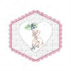 Sunbonnet Quilt Block embroidery design