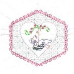 Sunbonnet Quilt  Girl embroidery design
