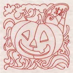 Pumpkin Quilt Block embroidery design