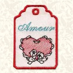 Valentine Gift Tag embroidery design