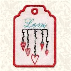 Love Gift Tag embroidery design