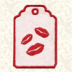 Kiss Gift Tag embroidery design