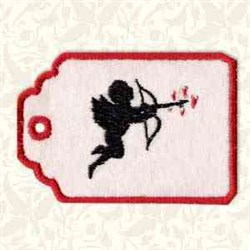 Cupid Gift Tag embroidery design