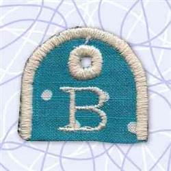Key Tab Alphabet B embroidery design