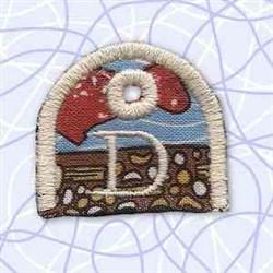 Key Tab Alphabet D embroidery design