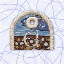 Key Tab Alphabet G embroidery design